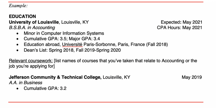 Ulmer Quick Guide Resume Tips University Of Louisville