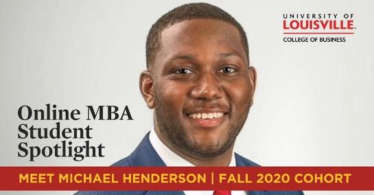 Headshot of OMBA student Michale Henderson