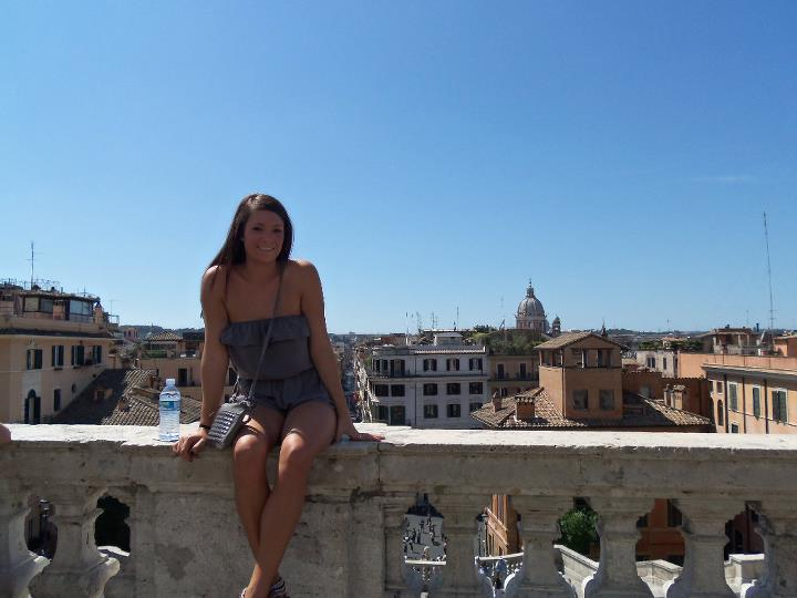 View from the top of the Spanish Steps