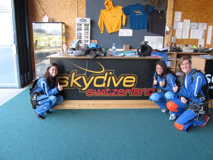 getting ready to skydive!