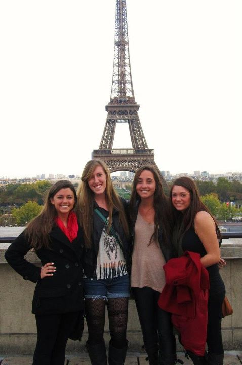 Roommates and I looking at the tower!