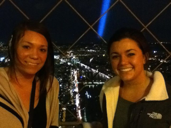 On top of the Eiffel Tower!