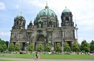 The Cathedral of Berlin is the largest church in the city,