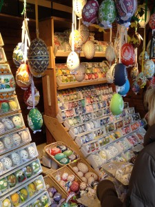 Hand-painted Easter Eggs in Prague