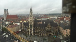 The view from the tower of Peterskirche.